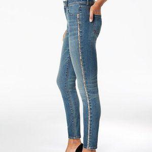 🏆I.N.C. Petite Sparkle Side-Seam Skinny Jeans 4P
